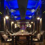 Eclairage décoratif pour restaurant bar lounge avec changement de couleurs